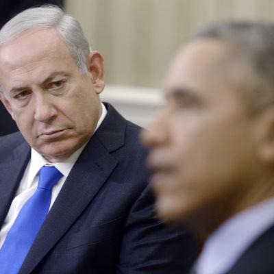 President Barack Obama och premiärminister Benjamin Netanyahu i Vita huset den 9 november 2015.