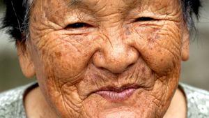 Gammal japansk kvinna.