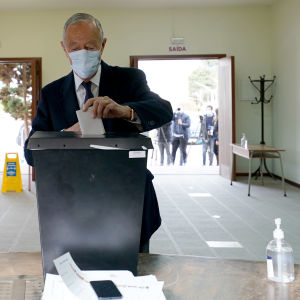 President Marcelo Rebelo de Sousa röstar på söndagen.