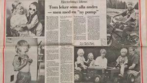 Vasabladet skrev om Tom Håkans.