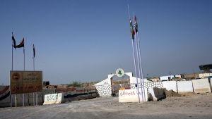Porten till fängelset Abu Ghraib i Irak.