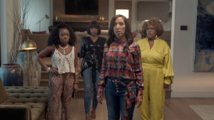 A Black Lady Sketch Show Från vänster Quinta Brunson, Gabrielle Dennis, Robin Thede och Ashley Nicole Black.