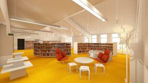Barnens läsesal i Sibbo huvudbibliotek