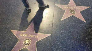 Två stjärnor på Hollywood Walk of Fame