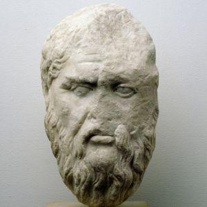Porträtkopf des Philosophen Platon. Original um 350 v. Chr., römische Kopie 1./2. Jh. n. Chr.; Marmor.