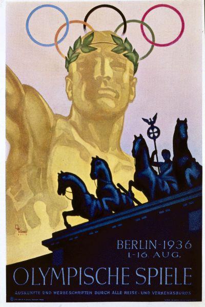 Affischen för de olympiska spelen i Berlin 1936.