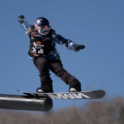 Enni Rukajärvi åker slopestyle, 2016.