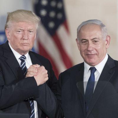 Yhdysvaltain presidentti Donald Trump ja Israelin pääministeri Benjamin Netanyahu
