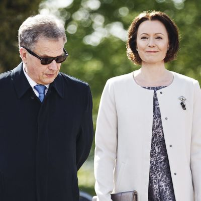President Sauli Niinistö och fru Jenni Haukio.