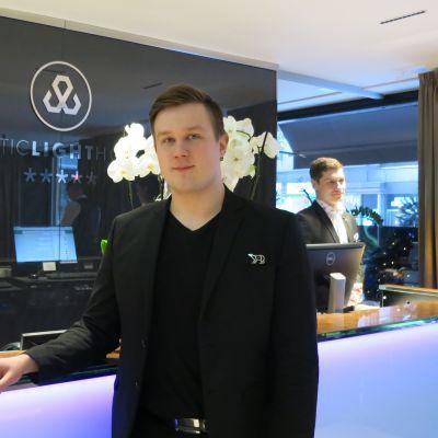 Miko Gröhn hotellinjohtaja Arctic Light ja Arctic City Rovaniemi