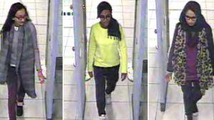 Tre brittiska flickor rymde till Syrien.