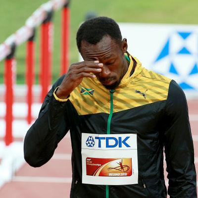 Usain Bolt under friidrotts-VM i Peking 2015.