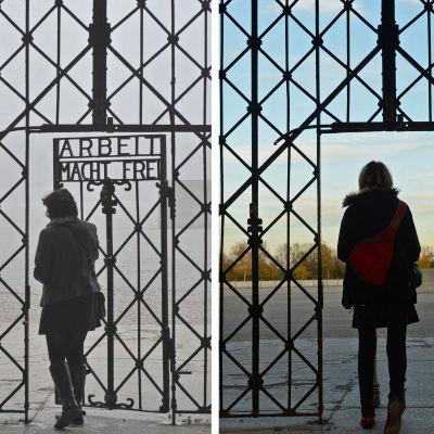 Den ökända skylten med texten Arbeit Macht frei stals vid koncentrationslägret i dachau.