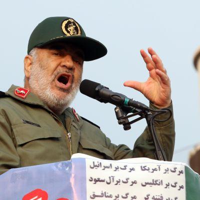 Hallitusta tukevia mielenosoituksia Iranissa.