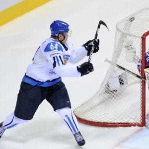 Mikael Granlund gör sitt zorromål mot Ryssland.