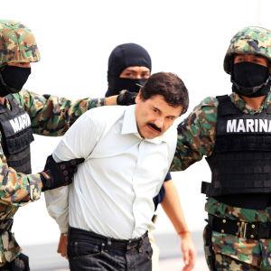 Knarkbossen Joaquín Guzmán greps den 22 februari 2014.
