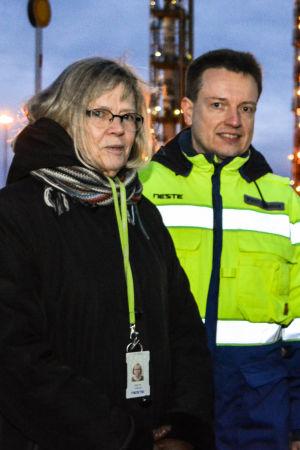 Forskare Marina Lindblad och forskningschef Petri Lehmus