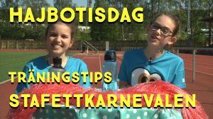 Nadja och Bertha på sportplan
