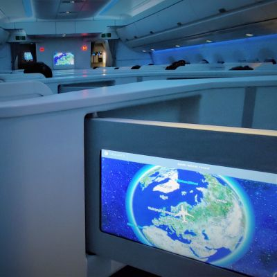 Finnairin lento Singapore-Helsinki 15.3.2020