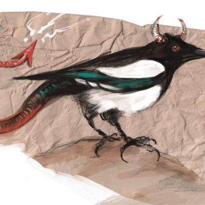 Harakka oli kansanperinteessä pirun lintu.