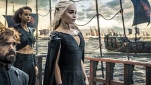 The queen of Dragons från Game of Thrones.