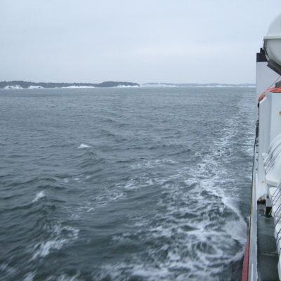 Bild från förbindelsebåten Eivor.