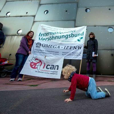 ICAn-aktion i Wien, Österrike i september 2017.