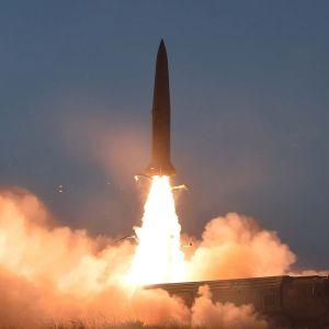 Nordkoreansk kortdistansrobot avfyras den 25.7.2019.