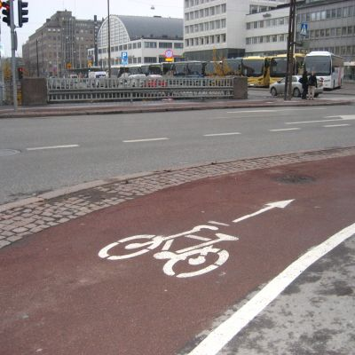 Enkelriktad cykelväg