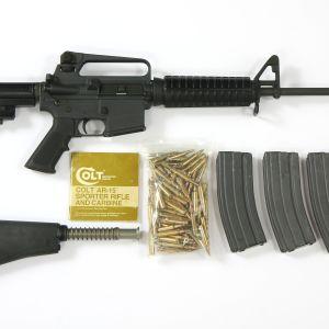 Halvautomatiskt gevär av modell Colt AR-15.