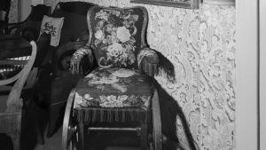 Runebergs rullstol. Unik på sin tid.