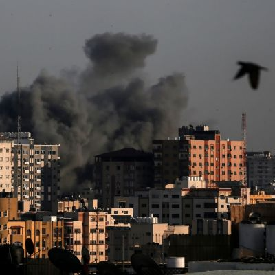Bombning i Gaza.
