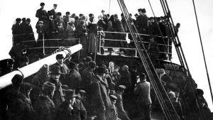 Amerika-emigranter ombord på ångfartyget Urania år 1893