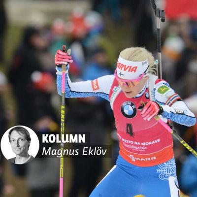 Kaisa Mäkäräinen i spåret.