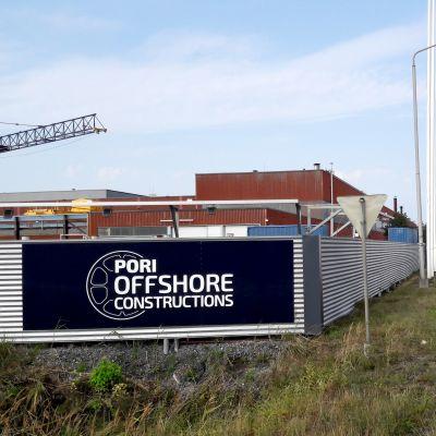 Mäntyluodon telakka Porissa. (Entinen Technip, nykyinen Pori Offshore Constructions)