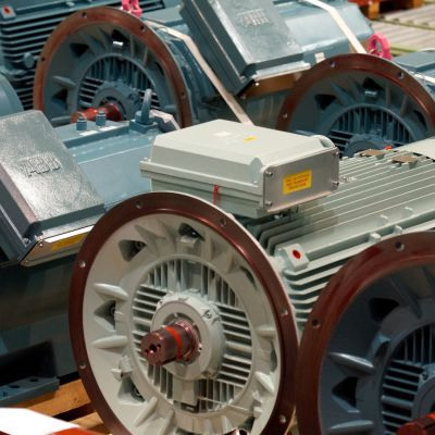 Elmotorer byggda vid ABB i Vasa.
