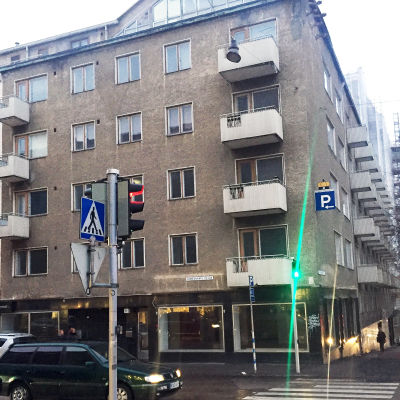 Ett bostadshus på adressen Tavastgatan 24 i Lahtis.