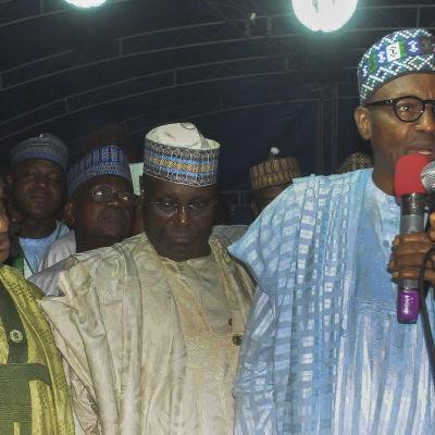 All Progressive Congress APC:s kandidat  Muhammed Buhari den 24 mars 2015