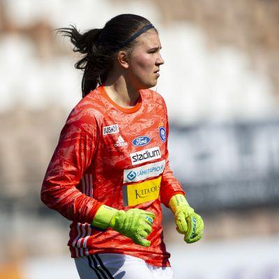 HJK.n maalivahti Anna Koivunen.