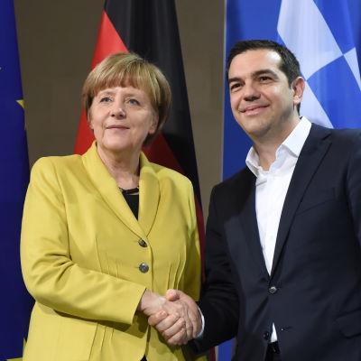 Angela Merkel och Alexis Tsipras träffades i Berlin.