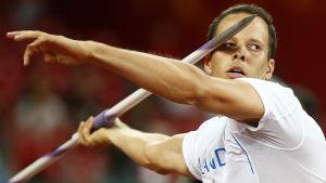 Tero Pitkämäki tog ett VM-brons i Peking i fjol.