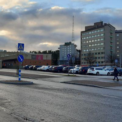 Näkymä Lahden keskustaan vanhan linja-autoaseman suunnalta