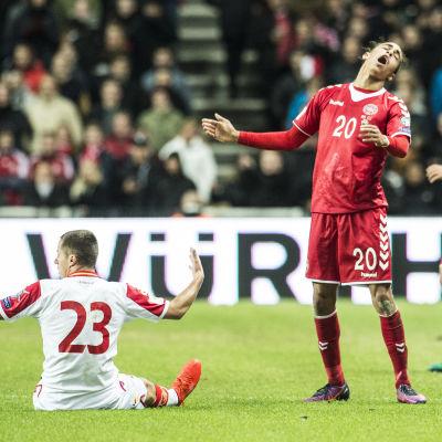 Danmark och Montenegro spelade en VM-kvalmatch i Köpenhamn.