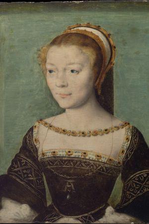 Corneille de Lyon (Alankomaat): Anne de Pisseleu (1508–1576), Étampes'n herttuatar, n. 1535–40