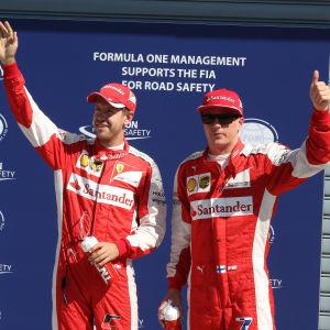 Sebastian Vettel och Kimi Räikkönen