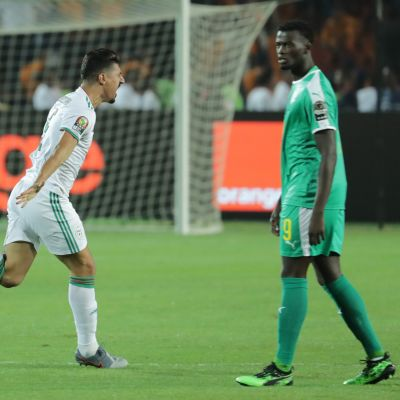 Algerian Baghdad Bounedjah juhlii maaliaan Kairon finaalissa