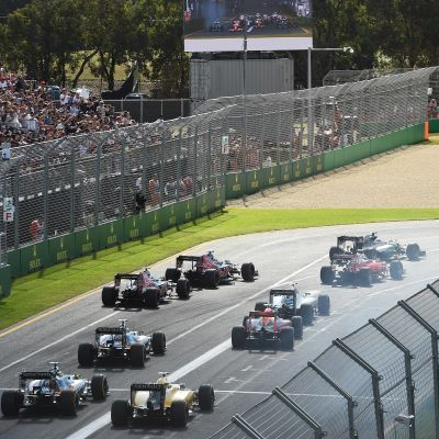 Starten på Australiens F1-GP i Melbourne 2016.