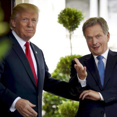 Donald Trump och Sauli Niinistö