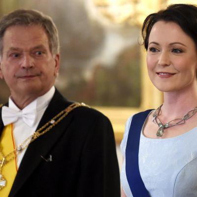 Sauli Niinistö och Jenni Haukio