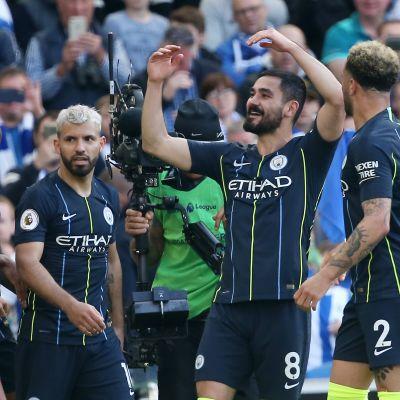 Manchester City juhlii.